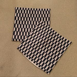 Geometric throw pillow covers